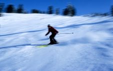 Skier In Action 8 Royalty Free Stock Images