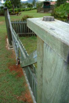 Free Long View Hardwood Gate Stock Photo - 92690