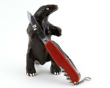 Free Monster With Knife Stock Image - 92951