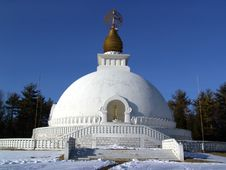 Free Leverett Peace Pagoda Royalty Free Stock Image - 94686