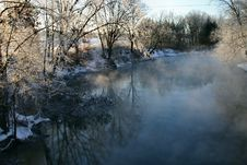 Free Winter Morning On The River Stock Photography - 95112