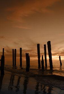 Free Broken Pier Orange Stock Image - 95141