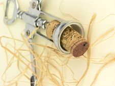 Free Cork In The Corkscrew Stock Images - 95304