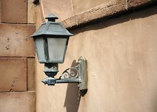 Free Lightpost In Old Wall Stock Photo - 96290