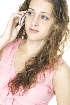 Girl On Cellphone Royalty Free Stock Images