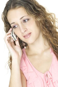 Free On The Phone Stock Photo - 98030