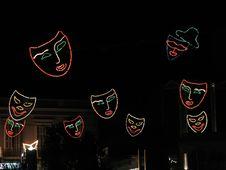 Free Flying Masks Royalty Free Stock Photography - 98577