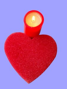 Free Heart And Candle Royalty Free Stock Image - 98616