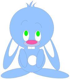 Free Blue Bunny Stock Image - 99201