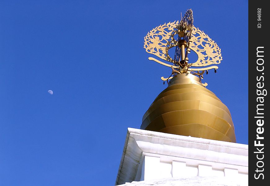 Peace Pagoda Dome with Moon