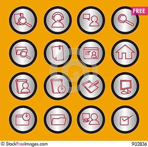 Free Web Icons Set Royalty Free Stock Image - 902836