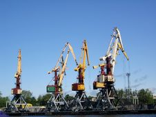 Free Lifting Cranes. Stock Image - 900021