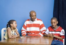 Free Family Playing Cards Royalty Free Stock Image - 900486