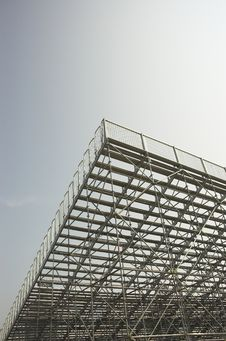 Empty Bleachers View From Behind Stock Photography