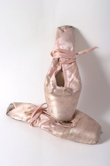 Ballet Slippers Old 1 Stock Image