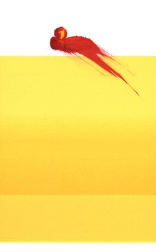 Free Yellow With Red Splat Royalty Free Stock Image - 901816