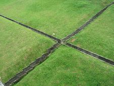 Free Cross Drains In Grass Royalty Free Stock Images - 902349