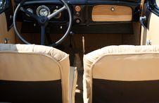 Vintage Cabrio Interior Stock Images