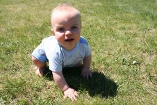 Free Boy Crawling In Grass Royalty Free Stock Photos - 903748