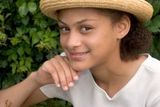 Free Summer Straw Hat Royalty Free Stock Photo - 903875