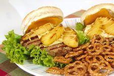 Apple Hamburger Royalty Free Stock Photo