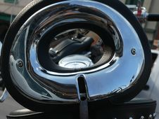 View Through A Motorcycle Seat Royalty Free Stock Image