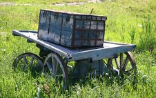 Old Wagon With Box Stock Image