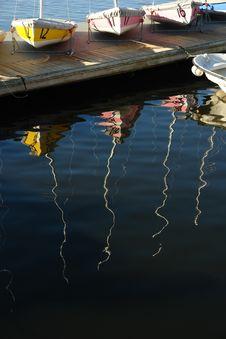 Sailboats In Waiting Royalty Free Stock Image