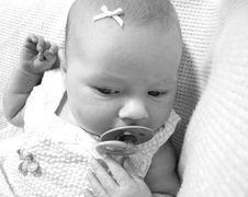 Free Beautiful Newborn Baby Girl Stock Photos - 908183