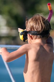 Diver Kid Royalty Free Stock Photo