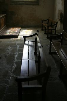 Free Church Bench Royalty Free Stock Photography - 909277