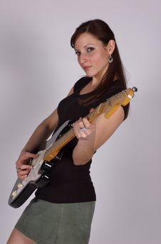 Free Guitar Girl Royalty Free Stock Image - 909976