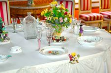 Free Banquet Setting Royalty Free Stock Photography - 9000087