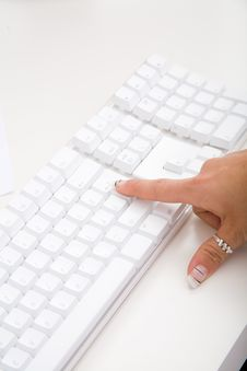Free Desktop Computer Keyboard Stock Photo - 9000540