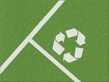 Free Recycling Symbol On The Grass Stock Photos - 9001393