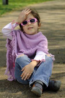 Free Little Fashion Girl Stock Photo - 9001400