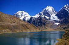Free Cordillera Huayhuash, Siula And Yerupaja Royalty Free Stock Image - 9001636