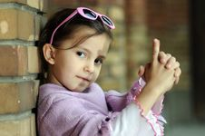 Free Little Fashion Girl Royalty Free Stock Image - 9001806