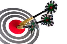 Free Target With Arrows On White Stock Image - 9001841