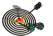 Free Target With Arrows On White Stock Photo - 9001870