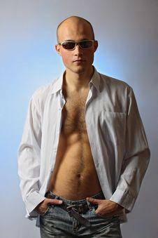 Free Beautiful Man In Shirt Royalty Free Stock Photo - 9002675
