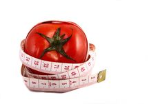 Free Tomato And Measuring Tape Royalty Free Stock Photo - 9004435