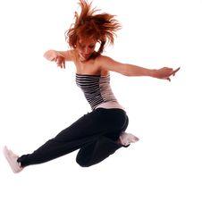 Free Attractive Teenage Dancing Stock Image - 9004501