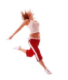 Free Attractive Teenage Dancing Royalty Free Stock Images - 9004509