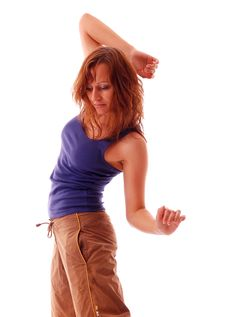 Free Attractive Teenage Dancing Stock Image - 9004521