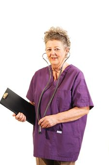 Senior Nurse. Royalty Free Stock Photography