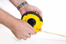 Free Flexible Measuring Tape Royalty Free Stock Photography - 9005867
