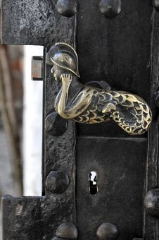 Old Golden Door Handle Royalty Free Stock Images