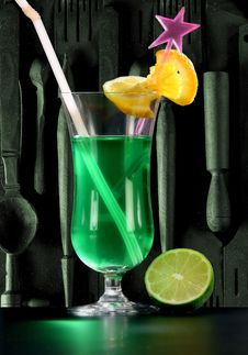 Free Green Cocktail Stock Image - 9007011