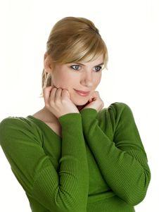 Free Beautiful Girl In Green Stock Image - 9008221